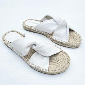AEROSOLES Paramus white leather Espadrille Sandals